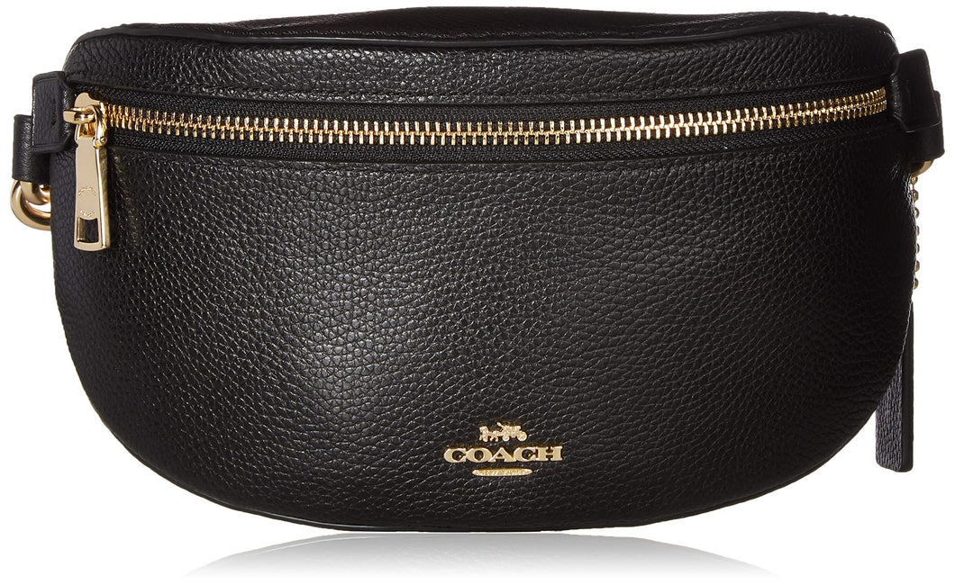 COACH Women's Polished Pebble Belt Bag Gd/Black One Size