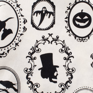 "DII Oversized 20x20"" Cotton Napkin, Black & White Halloween Portrait - Perfect for Halloween, Dinner Parties and Scary Movie Nights"
