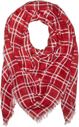 Calvin Klein Women's Square Blanket Scarf, Red, One Size