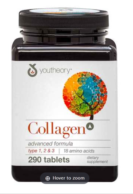 Youtheory Collagen Advanced Formula Types 1-2-3 - 290 Tablets
