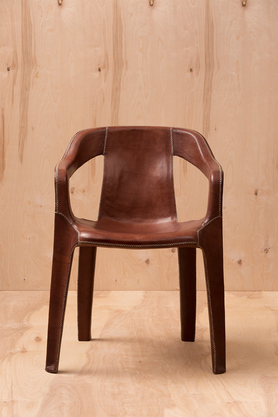 Cheap & Chic Brown Leather Chair