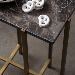 Palm Desert Marble & Metal Cocktail  Table