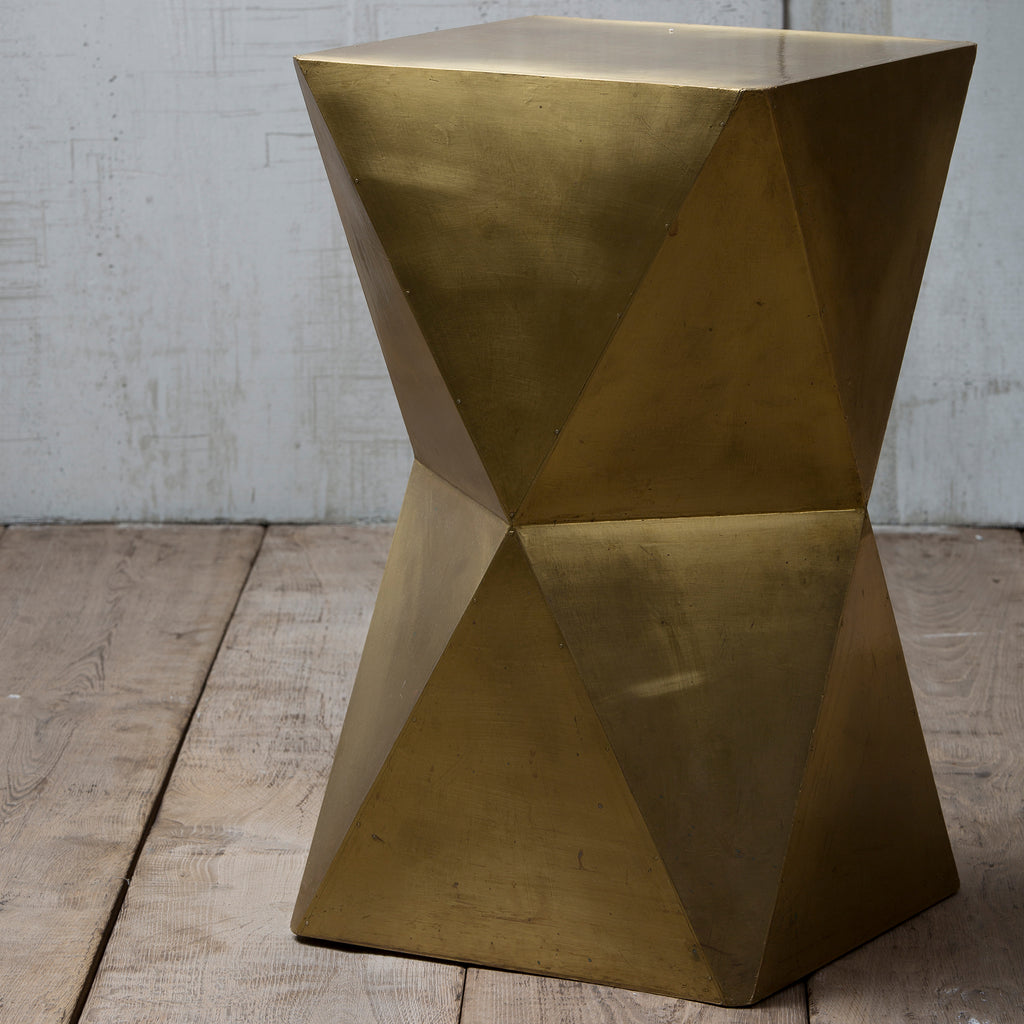 Brass Clad Table/Stool