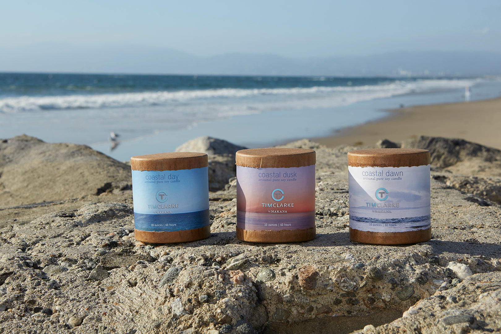 Coastal Dawn Soy Candle by Tim Clarke