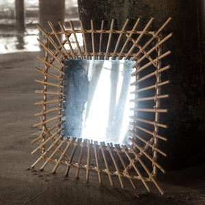 Square Bamboo Mirror