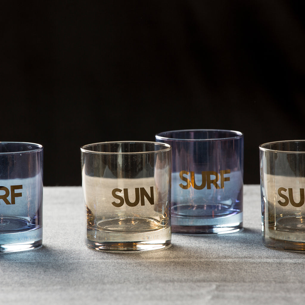 Sun & Surf Glass Set