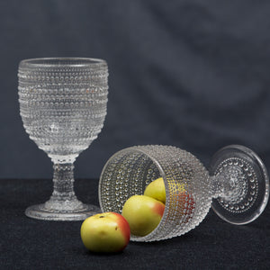 Lumina Clear Goblet Glass Set