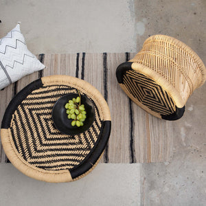 Side Table w/Black Nylon Rope