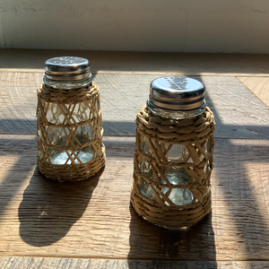 Seagrass Cage Salt & Pepper Shaker Set
