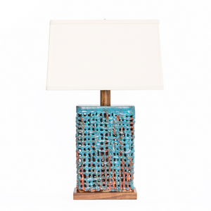 Block Basket Weave Lamp