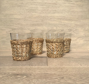 Seagrass Cage Wide Tumbler S/4