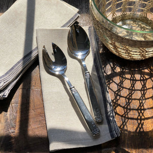 Falaride Pewter Salad Serving Set