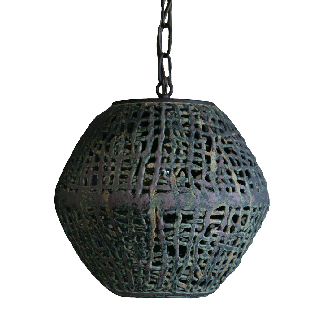 Ovoid Hanging Basketweave Pendant