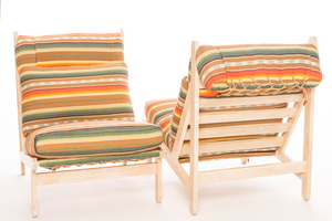 Pair of Rosarito Lounge Chairs and Ottomans