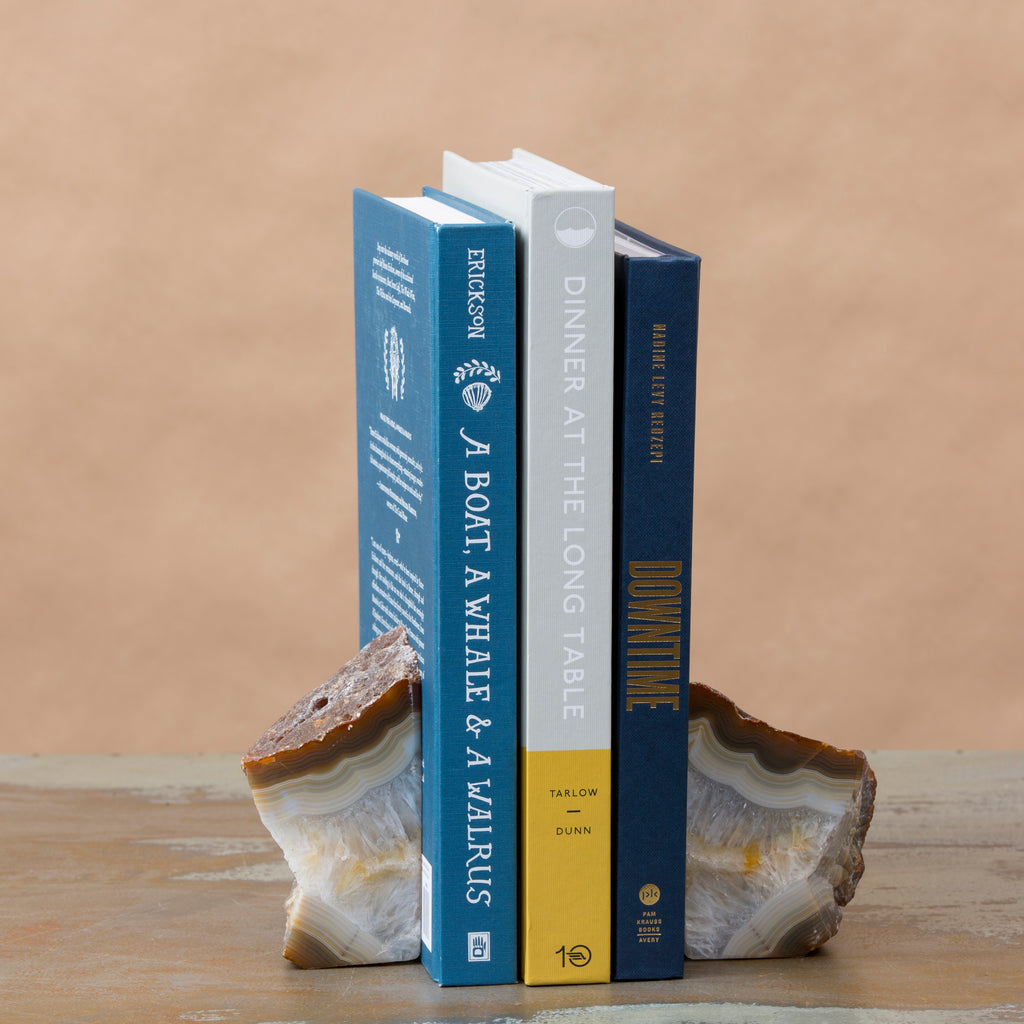 Agate Bookends Small
