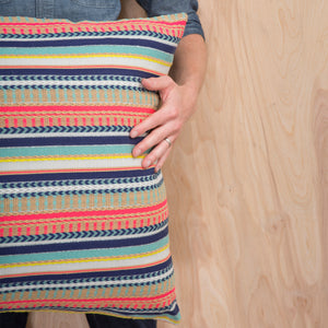 Multi Stripe Arrow Pillow