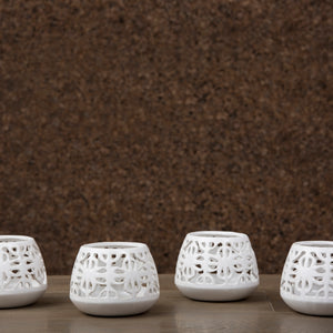 Terraza Hurricane Votive White