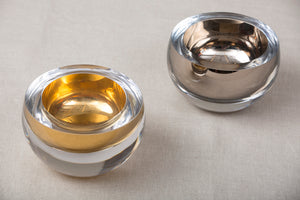 Gold or Platinum Glass host bowls