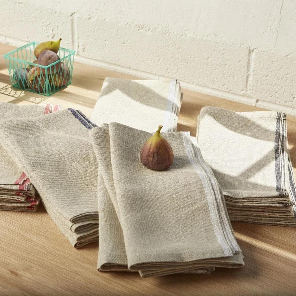 Natural Linen Selvedged Edge Napkins S/4