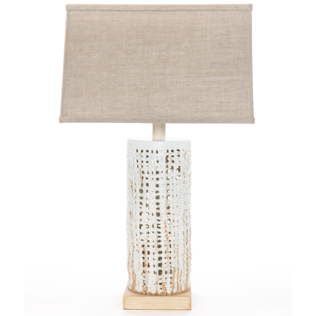 Tall Basketweave Lamp
