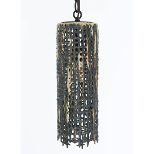Tall Hanging Basketweave Pendant
