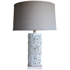 Tall Squiggle Weave Lamp