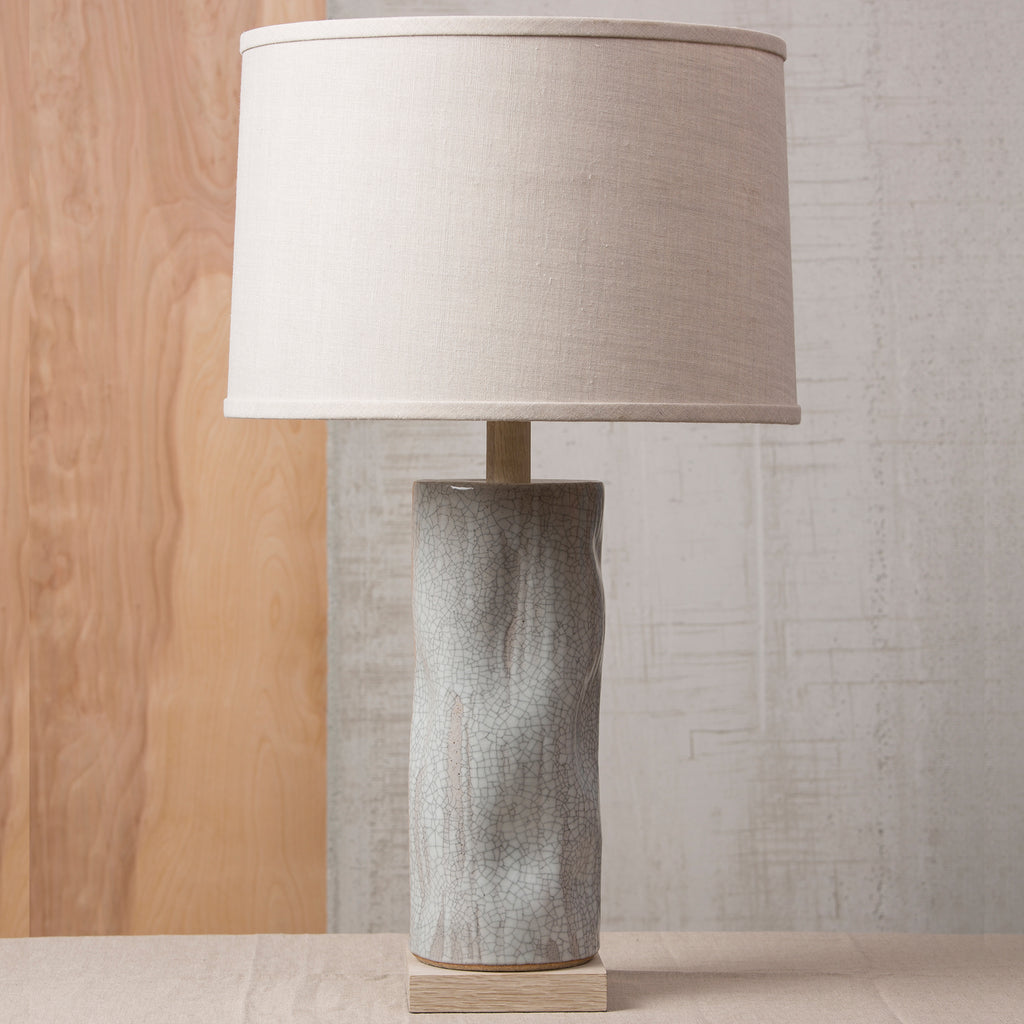 Tall Undulating Cylinder Lamp