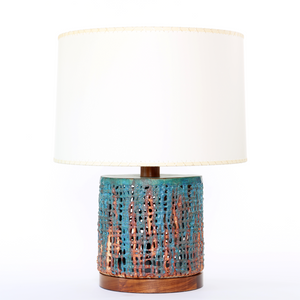 Wide Basketweave Lamp