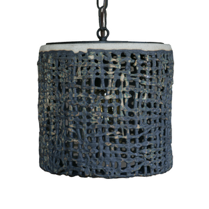 Wide Hanging Basketweave Pendant