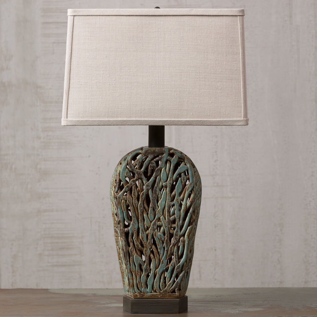 Haystack Squiggle Weave Lamp