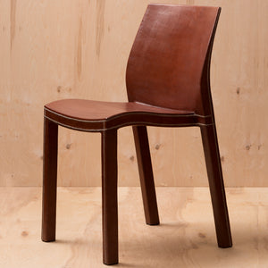 Square Back Leather Chair