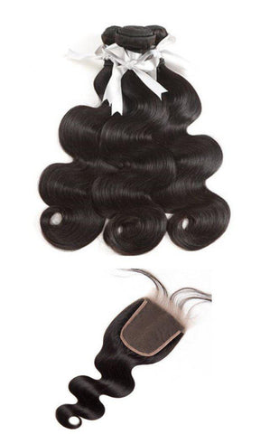 8A Virgin Body Wave 2 or 3 Bundles With 4x4 Lace Closure-Liyah Hair