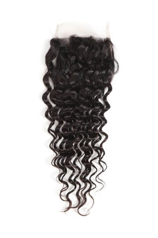 4x4 Virgin Deep Curly Lace Closure-Liyah Hair