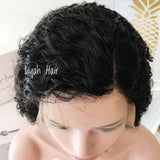 Brazilian Deep Curly Virgin Hair Pre-Plucked Lace Front Bob Wigs-Liyah Hair