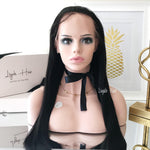 Brazilian Straight Virgin Hair Glueless Full Lace Frontal Wigs-Liyah Hair