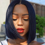 Brazilian Straight Virgin Hair Pre-Plucked Lace Front Bob Wigs