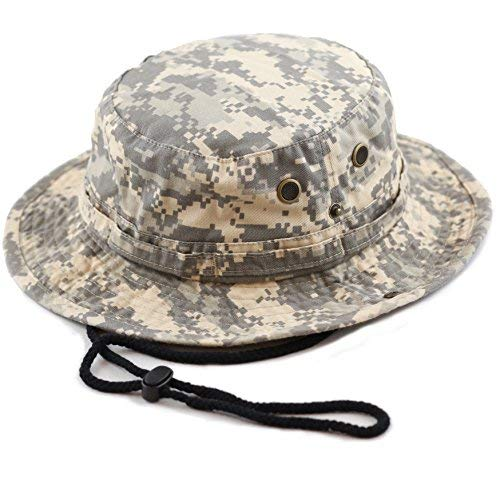 HAT DEPOT 100% Cotton Stone-Washed Safari Wide Brim Foldable Double-Sided Outdoor Boonie Bucket Hat