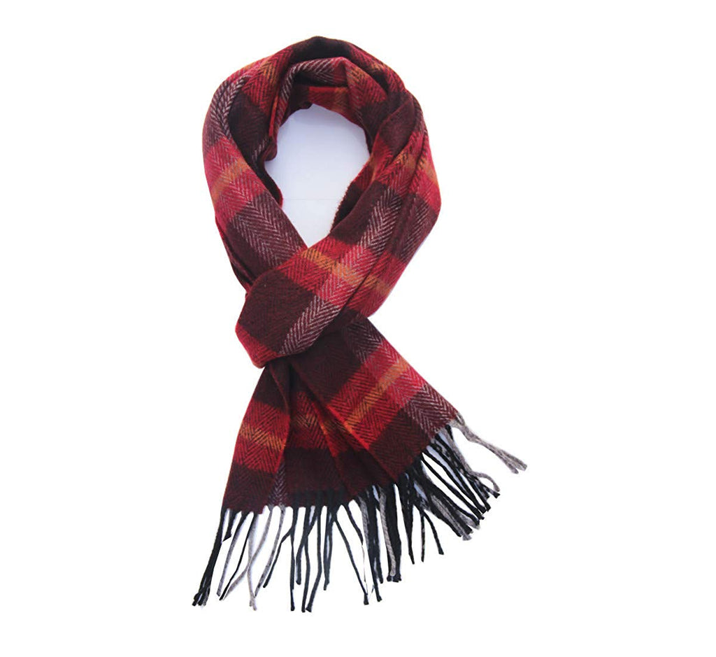 Super Soft Classic Cashmere Feel Plaid Check Winter Warm Scarf