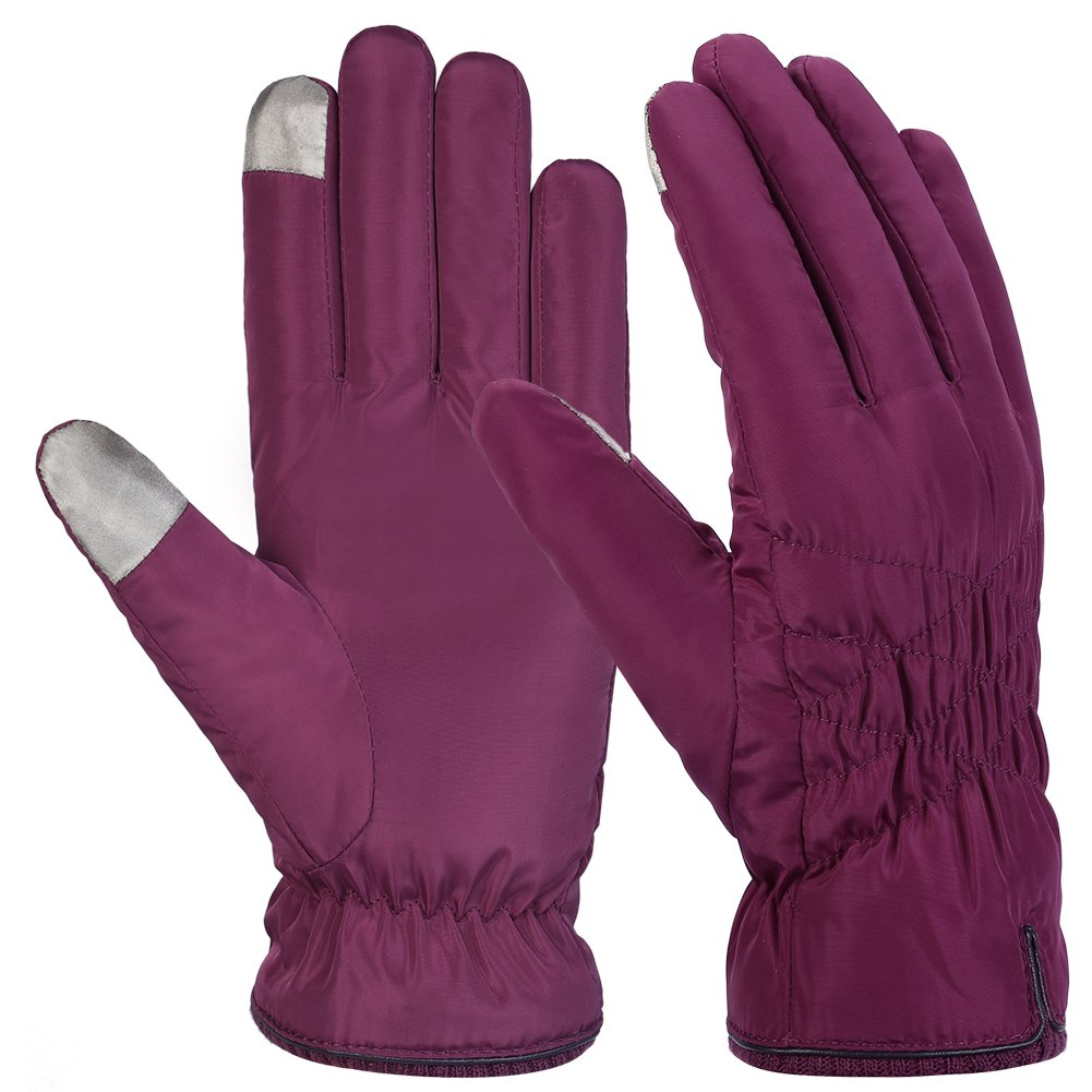 Winter Gloves Touch Screen Gloves Warm Leather Gloves for Women