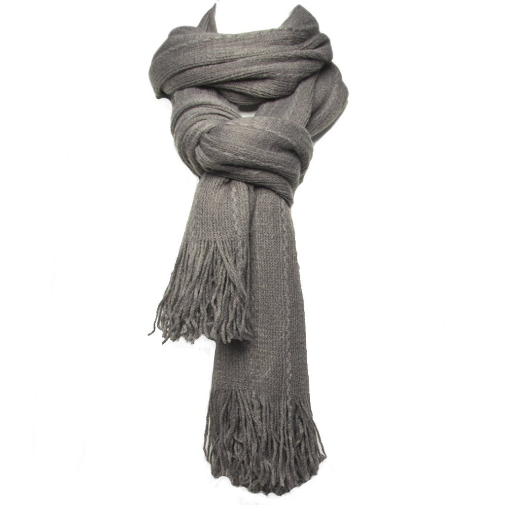 Royal Standard Blanket Scarf for Men and Women Lightweight Winter Fashion Oversized With Fringe