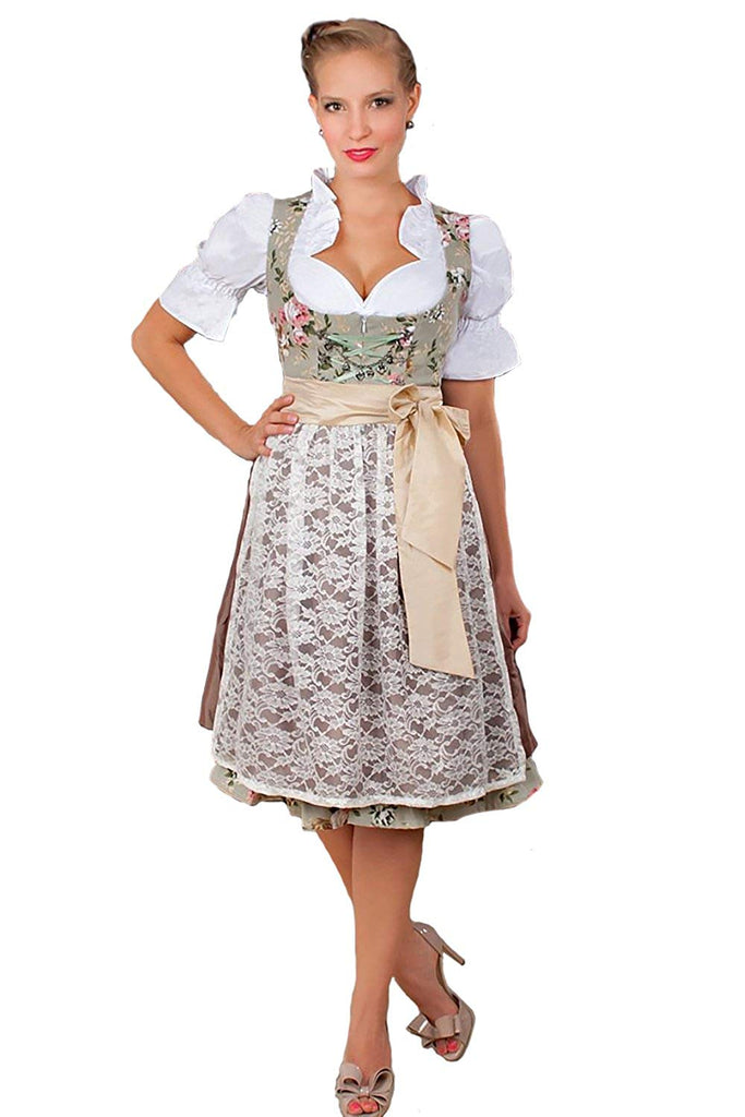 Trachtenmoden 2-Piece Dirndl Dress Authentic Bavarian Floral Exlusive