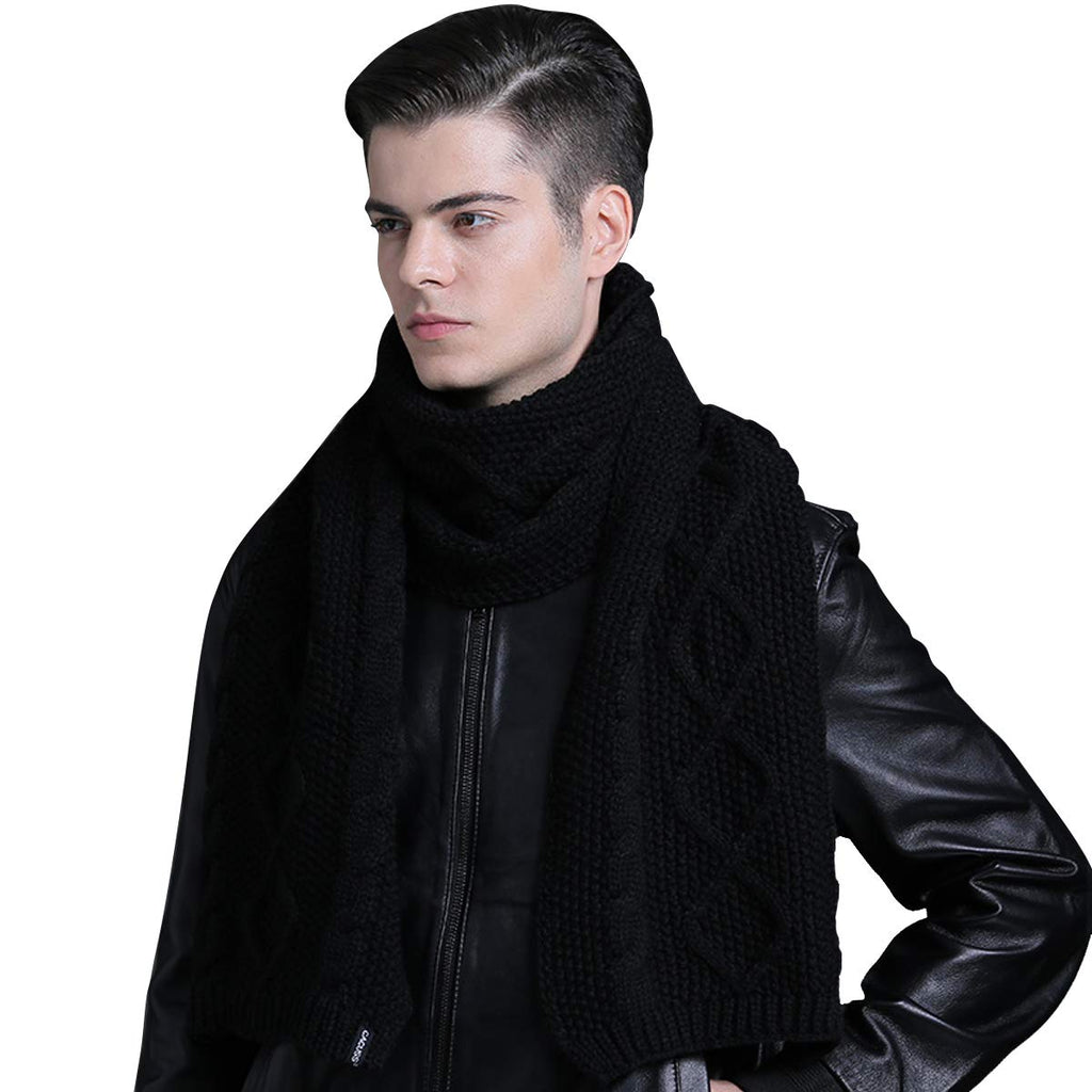 "Scarf for Men and Women Blanket Scarf Black Knitted Scarf Fashion Scarf 70.74""×12.58"""