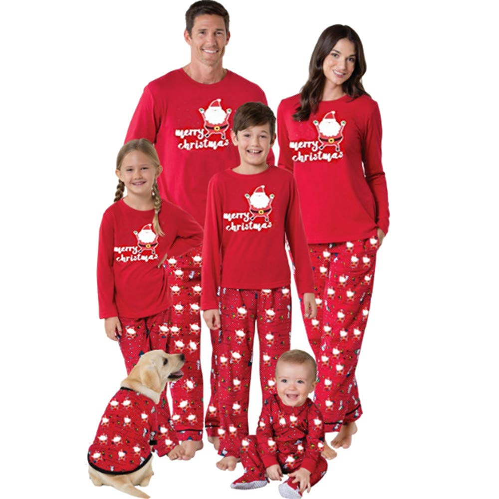 Matching Pjs for Christmas Kids Women T Shirt Pants Pajamas Sleepwear Outfits