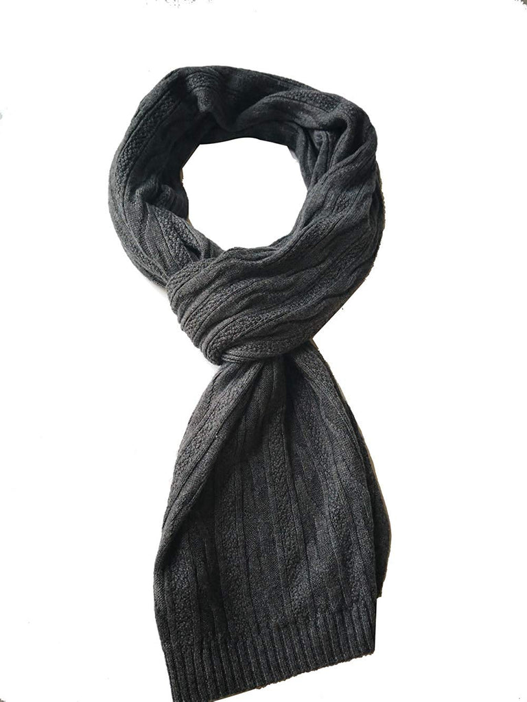 Men's Winter Cashmere Scarf Warm & Long Merino Wool Scarves