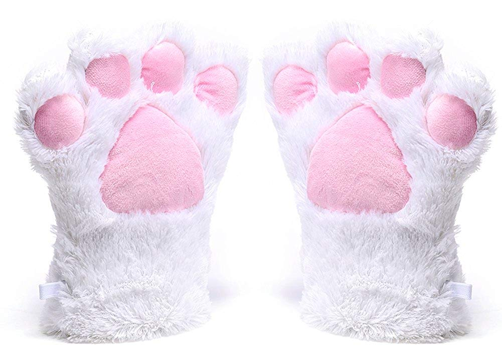 Womens Winter Warm Gloves Cosplay Cat Paw All Cover Mittens for Girls