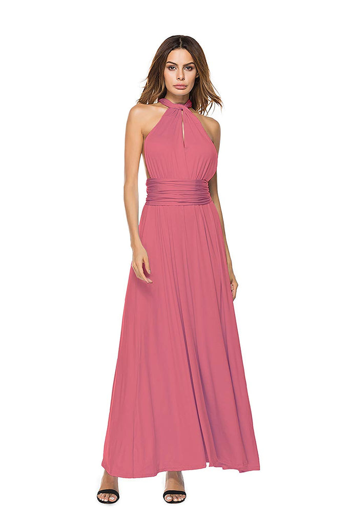 Women's Convertible Wrap Multi Way Party Long Maxi Dress