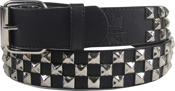 Rock Classic Pyramid Studded Leather Belt by BodyPunks