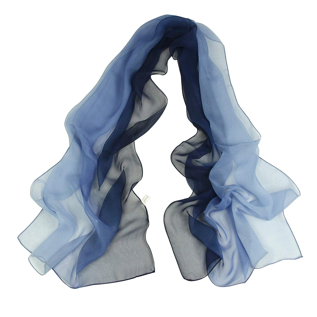Chiffon Sheer Scarf Gradient - Pantonight Shaded Colors Lightweight Scarf For Womens