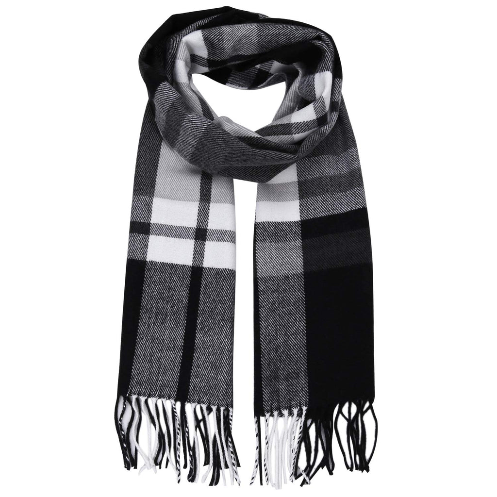 Plaid Tartan Cashmere Scarves with Tassels for Men and Women SC3010