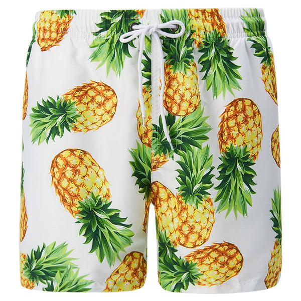 Mens Swim Trunk Quick Dry Print Boardshorts Summer Beach Short With Pockets
